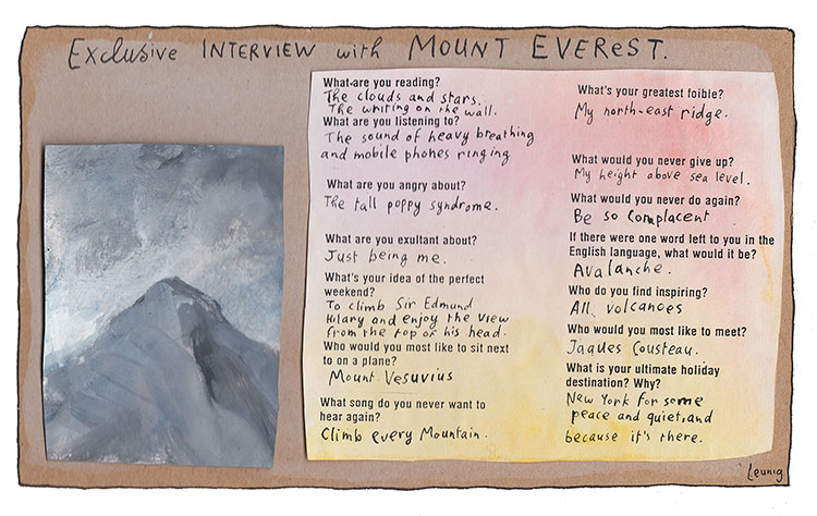 interview with mt everest